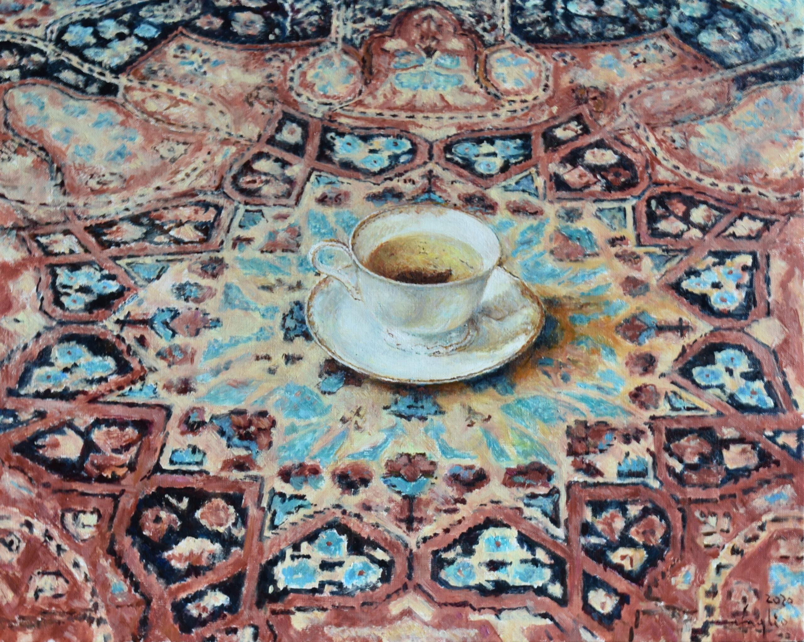 Filiżanka herbaty, 2020, olej na płótnie, 40x50