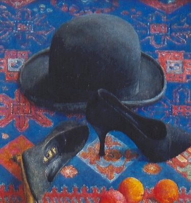Aksamit,  2003. Olej na płótnie, 51 X 40.