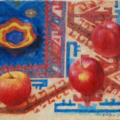Błękit pruski, 2006. Olej na płótnie, 26 X 30.
