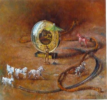 Biegnące konie, 1993, 30x40