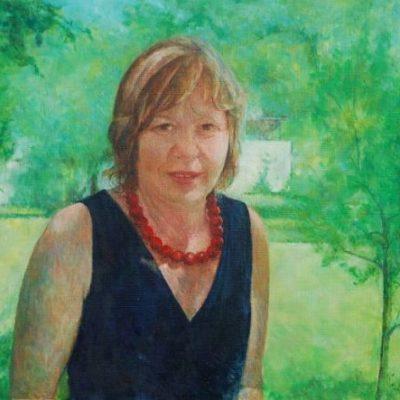 Danusia, 2011, 50x50, olej na płótnie.