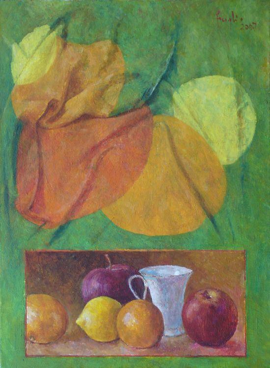 Draperia, 2007. Olej na płótnie, 50 x 40.