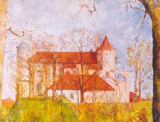 Jesienny zamek, 2004, 30 X 40.