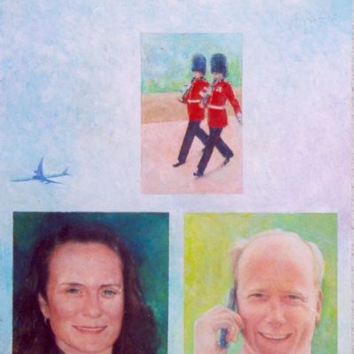 Kobieta i mężczyzna, 2006, technika mieszana na płycie, 60 x 50.