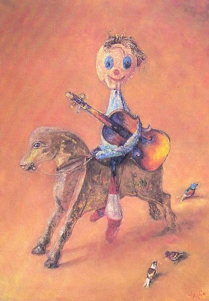Kolorowy koncert, 1995, 100x80