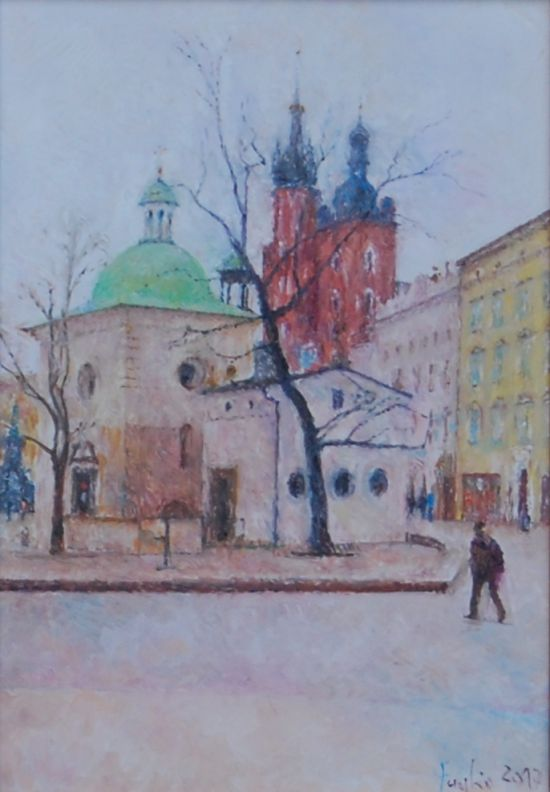 Kościół św. Wojciecha, 2018. Olej na płótnie,  30 X 21.