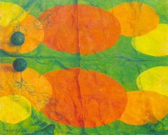 Malowany nitką, 2006. Olej na płótnie 40 x 50.