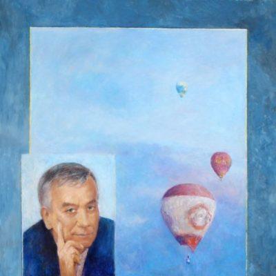 Marzenia, 2008, technika mieszana na płycie, 60 x 50.
