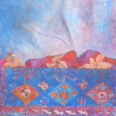 Pejzaż I, 2010. Olej na płótnie, 40 X 30.