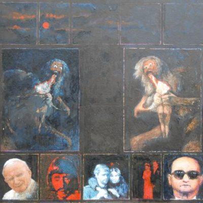 Negatyw, 2010, technika mieszana na płycie, 50 x 60.