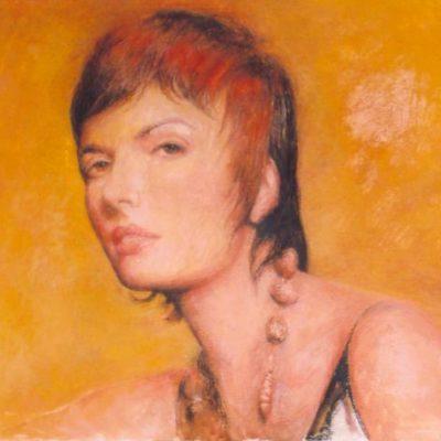 Pani Dorota, 2005, 30x43, technika własna/płyta.