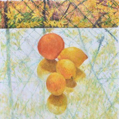 Pomarańcza, 2018. Olej na płótnie, 40 x 30.