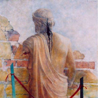 Poranione piękno, 2005. Olej na płótnie, 140x100.