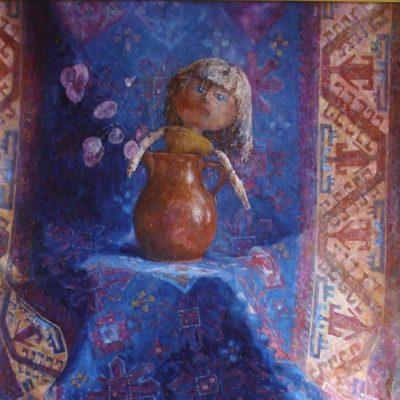 Portret z pamięci, 2008. Olej na płótnie, 80 X 60.