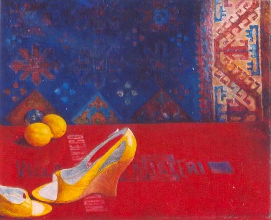 Powrót, 2005. Olej na płótnie,  60 X 50.