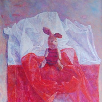 Różowy, 2009. Olej na płótnie, 60 X 50.