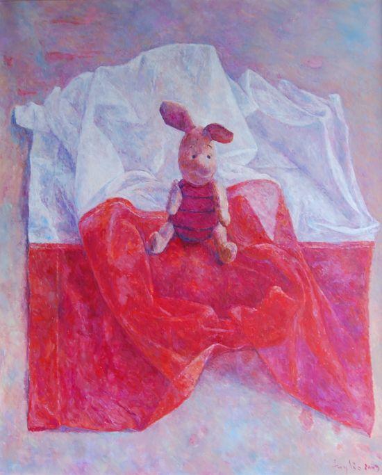 Różowy, 2009, 60x50