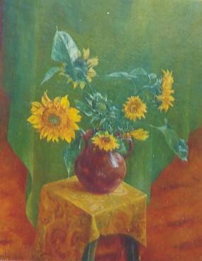 Słoneczniki, 75 X 60. Olej na płótnie, 2000.