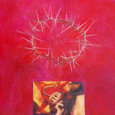 Stary wzór, 2010. Olej na płótnie, 60 X 50.