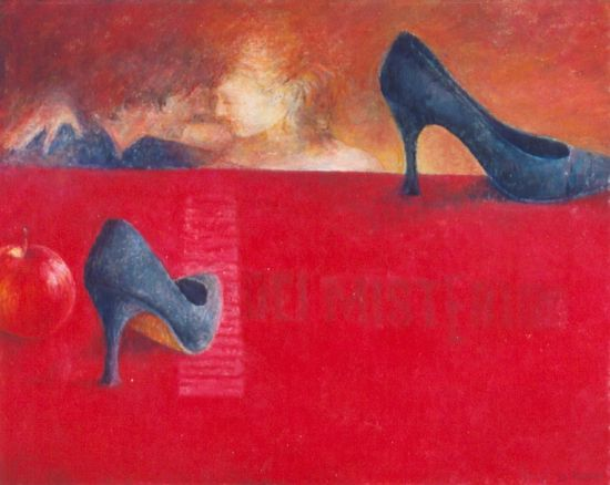 Tajemnica, 2005. Olej na płótnie, 50 X 60.