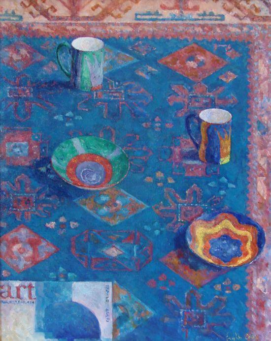 W rytmie art&B, 2008. Olej na płótnie, 40 X 30.