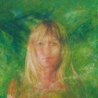 Zielony, 2009, 50x40, technika własna/płyta.