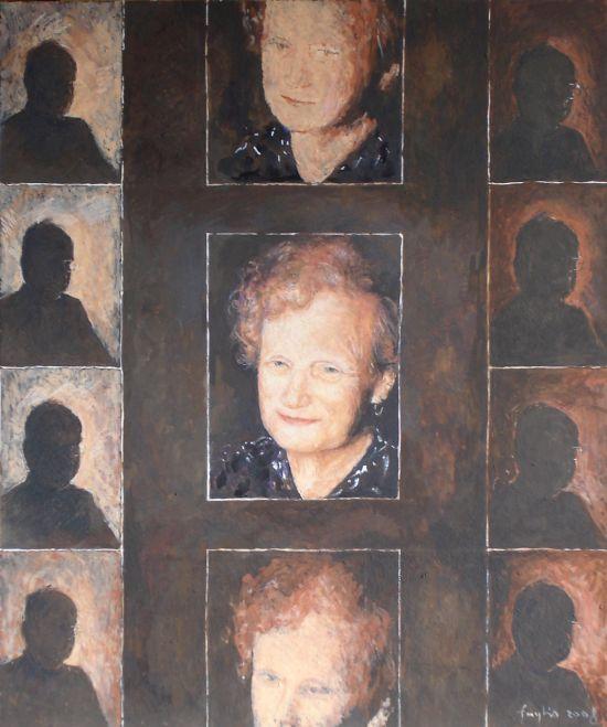 2008, technika mieszana na płycie, 60 x 50.