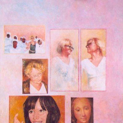 Madonny, 2007, technika mieszana na płycie, 60 x 50.