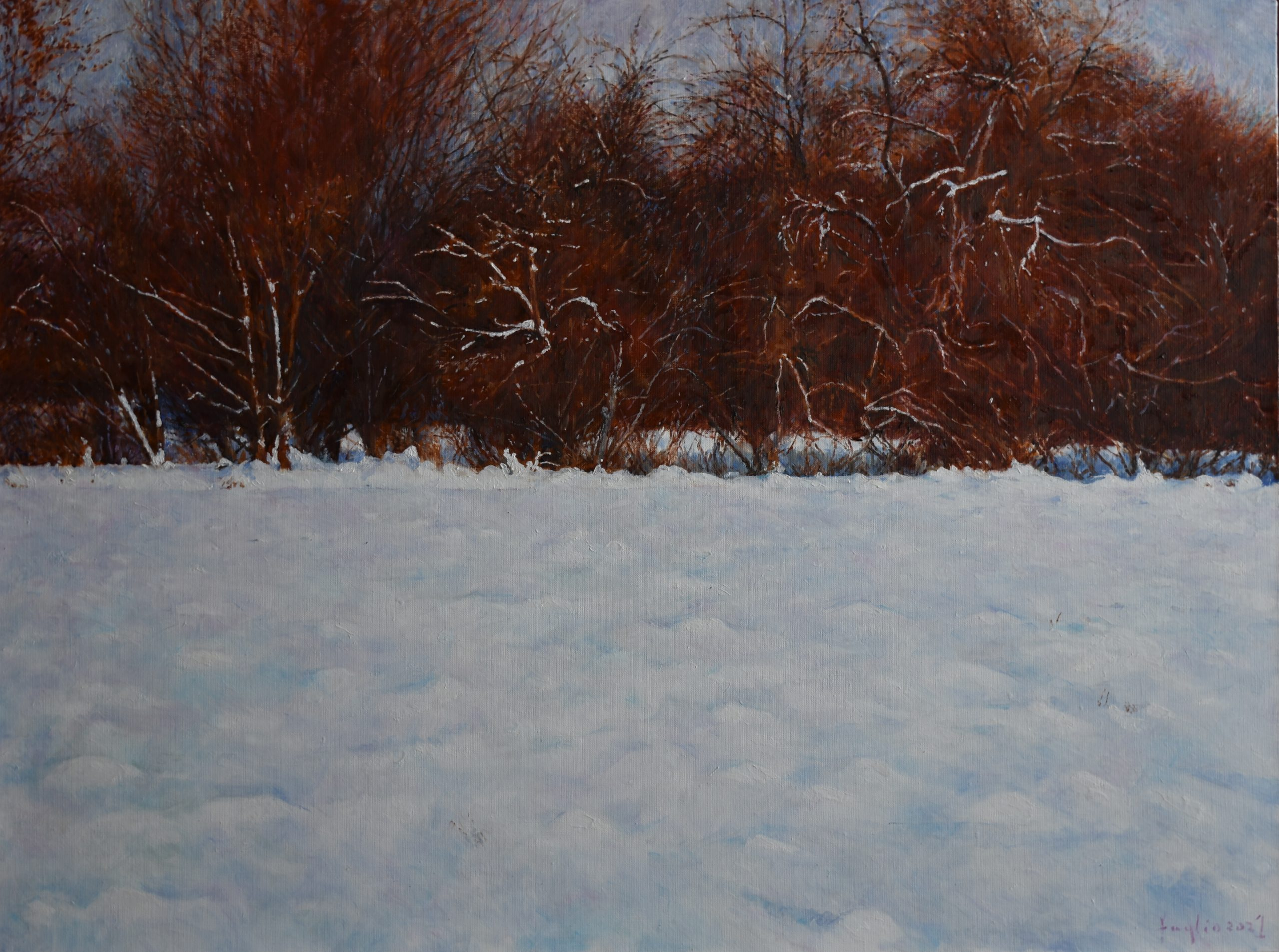 Zima 2021, olej na płótnie, 60 x80