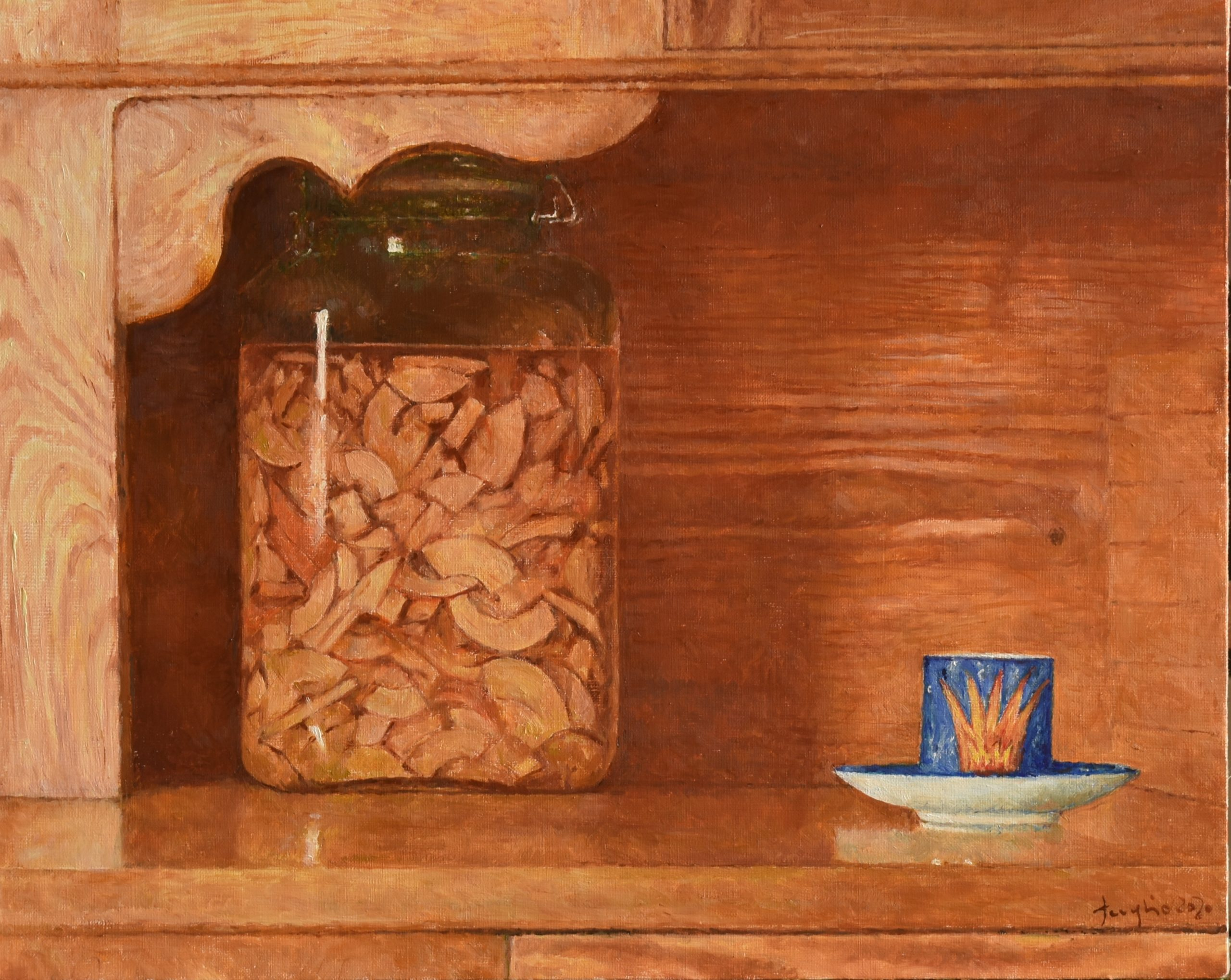 Kuchenny obraz, 2020, olej na płótnie, 40x50